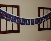 Reusable Happy Birthday Fabric Banner