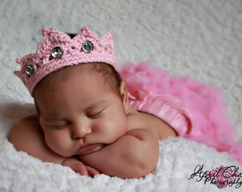 Newborn Princess Tiara Crown pattern pdf, great photo prop or gift