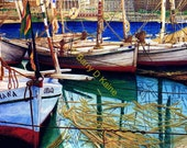 Boats At Rest print