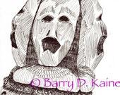 Screamin Pain illustration print