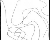 Abstract line drawing 168 print