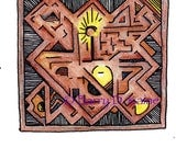 Abstract Celtic design 462A print