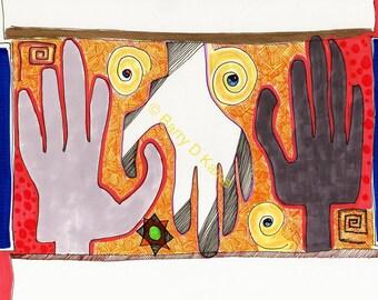 3 Hands V.3 print
