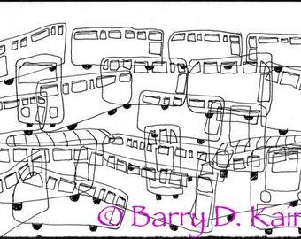 Musical Buses print