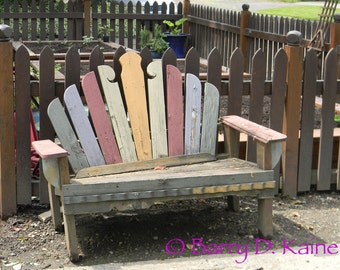 Old Bench art photo