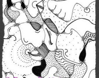 Abstract Line Illustration  117 print