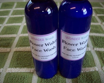 2oz Flower Water Face Wash- GENTLE & GREAT for ALL face types