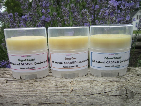 SAMPLE Size ALL Natural Deodorant, Works Awesome, Lavender