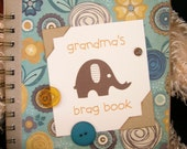 grandma's brag book baby picture journal mini scrapbook