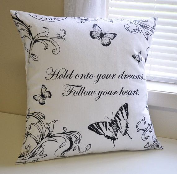 Hold onto your dreams pillow cover