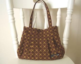 Pleated bag (M) - Brown, tote bag