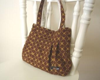 Pleated bag (M) - Brown