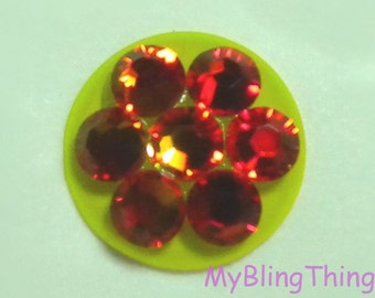 Crystal Bling Home Button Sticker for Apple iPhone 3GS 4 4S 5, iPad 2 3 4 Mini & iPod Touch All handmade w/ Swarovski Elements Fire Opal