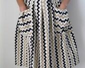 1950s Geometric Skirt Mad Men