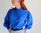 Clearance Sale - Royal Blue Blouse. Office Fashion. Size Large