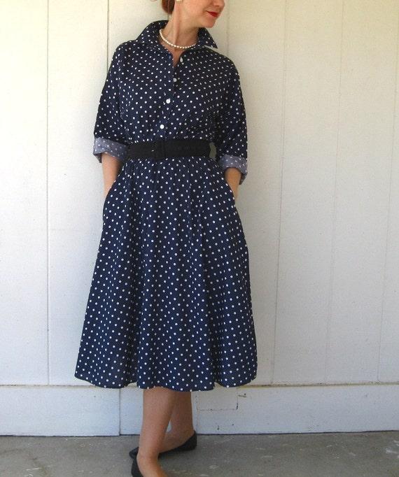 My Navy Blue Polka Dot Lovers Dress