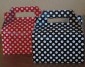 Custom Listing Polka Dot Favor Boxes,  Set of 30