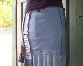 UpCycled Skirt dance blue Small/med