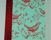 Journal Diary SketchBook Blank Large RED BIRDS