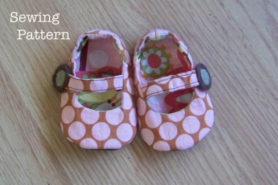 Reversible Mary Jane's DIY make it Yourself  PDF PATTERN with 3 strap options/ Sizes 0-18 months