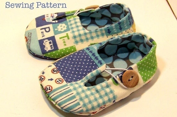 Jack and  Jill Loafers PDF PATTERN-- 5 different sizes