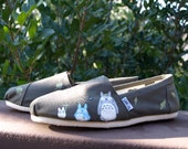 KOOAK Kustom Hand Painted Forest Spirits Toms Flats - Adult Sizes