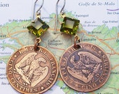 France, Vintage Coins - - French Empire - - Over 150 Years Old - Paris - Europe - World Travel - Eagle - - WorldTreasure