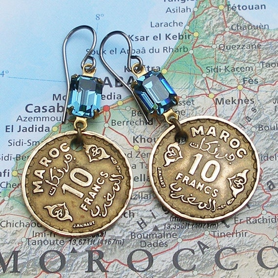 Morocco, Vintage Coins - - As Time Goes By - - Casablanca - Maroc - Exotic - Mediterranean - International Travel - Classic Films