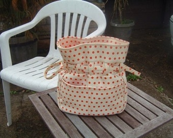 Mod 60s Purse with a Polka Dot Past