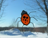 lady bug, stained glass suncatcher