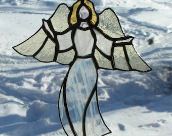 angle II, stained glass suncatcher