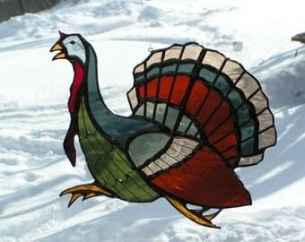 turkey, stained glass suncatcher