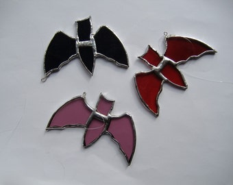 bats assorted, stained glass suncatchers
