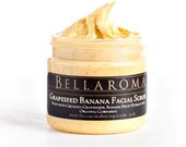 Grapeseed Banana FACIAL SCRUB- As seen in GBK's 63rd Primetime Emmy Award Celebrity Gift Bags & Exclusively Handmade for Rachael Ray