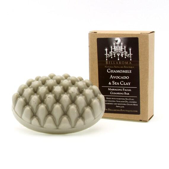 Chamomile Avocado & Sea Clay Massaging Facial Bar