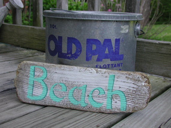 Hand painted Maine Driftwood Beach Sign