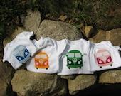 VW Applique Love Bus Baby Shower Present