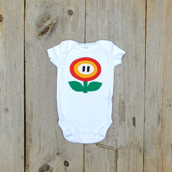 Nintendo Fire Flower Onesie / Baby Clothes