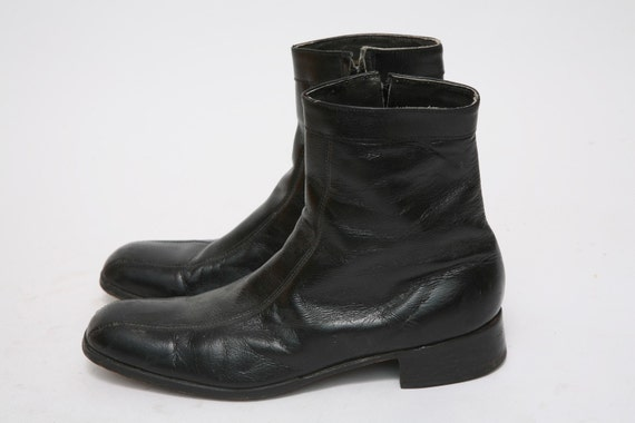 rock n roll mens black ankle boots us size 10