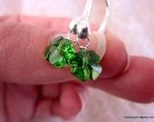 Four Leaf Clover Drops - Delicate - Swarovski