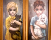 The Stray and No Dogs Allowed by Margaret Keane - Very Rare Matched Set- RESERVED FOR IAN