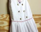 Crisp White Sailor Dress, 18 to 24 Months