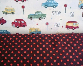 StopNGo and Dumb Dots Fabric by Michael Miller-1 yard each-Total 2 yards