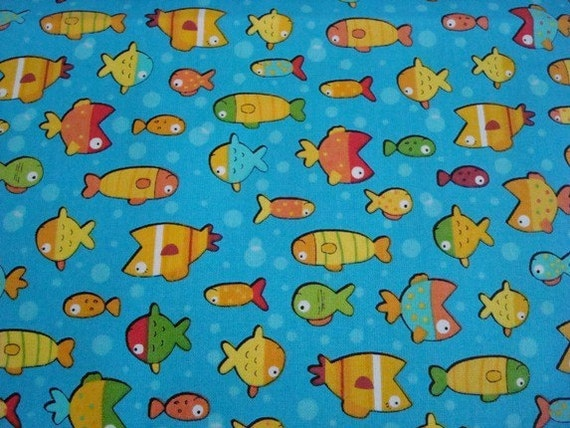 Gone fishing by benartex fabric 1 yard for Fish fabric by the yard