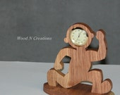 Desk Clock - Running Man Clock - Home Decor - Office Accessory