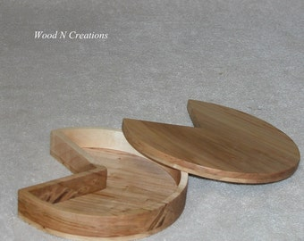 Jewelry Trinket Box Desktop or Vanity Accessory Wooden Box