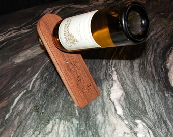 Bar Accessory -  Bottle Holder with Grape Vine Design - Barware - Kitchen Accessory - Gift Idea