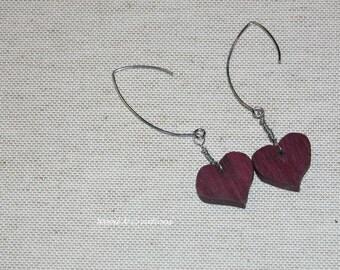 Earrings Heart Shape Dangle