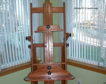 Wooden Artist's Easel That's Very Adjustable and so Pretty it's like Furniture