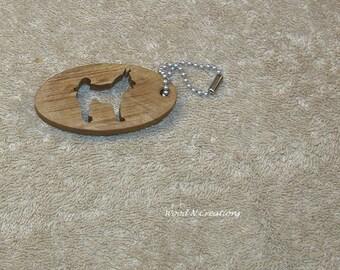 Alaskan Malamute Cutout - Key Chain - Dog Key Ring - Malamute Key Holder